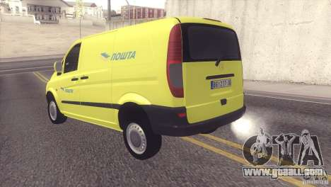 Mercedes Benz Vito Pošta Srbije for GTA San Andreas right view