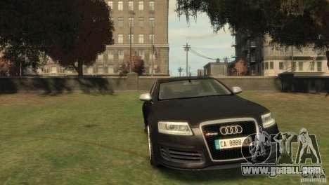 Audi RS6 v.1.1 for GTA 4 back view