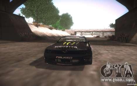 Ford Mustang Monster Energy for GTA San Andreas inner view