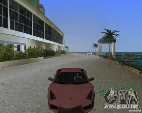 Lamborghini Reventon for GTA Vice City back left view