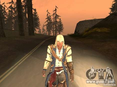 Connor From ACIII for GTA San Andreas sixth screenshot