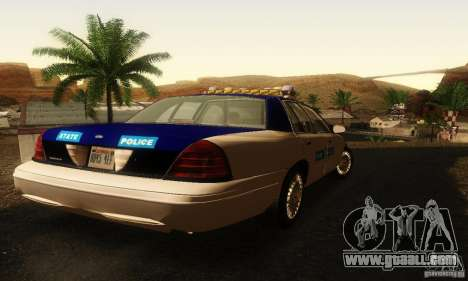 Ford Crown Victoria Virginia Police for GTA San Andreas left view