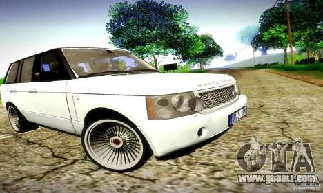 Range Rover Supercharged for GTA San Andreas upper view