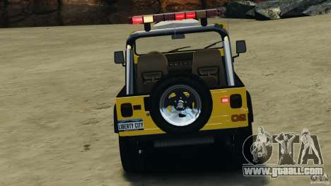 Jeep Wrangler 1988 Beach Patrol v1.1 [ELS] for GTA 4 upper view