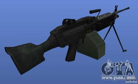 Machine Gun M249SAW for GTA 4 third screenshot