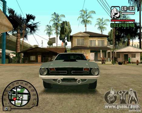 Plymouth Hemi Cuda 440 for GTA San Andreas left view