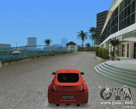 Nissan 370Z for GTA Vice City back left view
