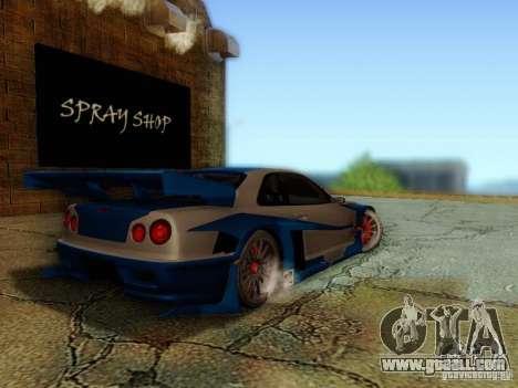Nissan Skyline GTR34 DTM for GTA San Andreas left view