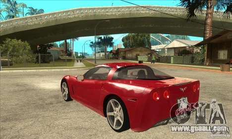 Chevrolet Corvette C6 Z51 - Stock for GTA San Andreas back left view