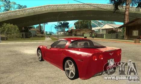 Chevrolet Corvette C6 Z51 - Stock for GTA San Andreas back left view
