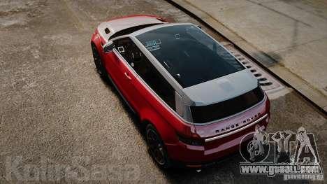 Range Rover Evoque for GTA 4 right view