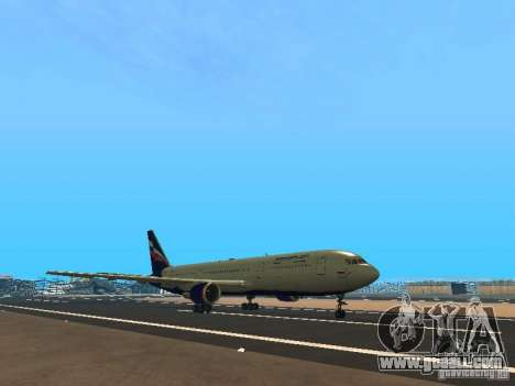 Boeing 767-300 Aeroflot for GTA San Andreas left view