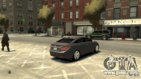 Hyundai Sonata for GTA 4 back left view