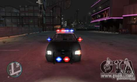 Ford Crown Victoria Police for GTA 4 back left view