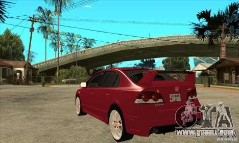 Honda Civic Mugen RR for GTA San Andreas back left view