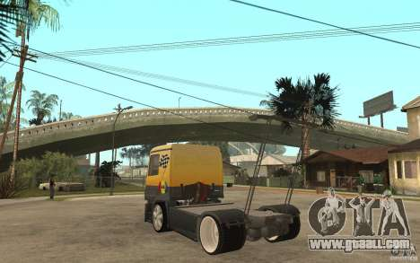 Mercedes Benz Actros Dragster for GTA San Andreas back left view