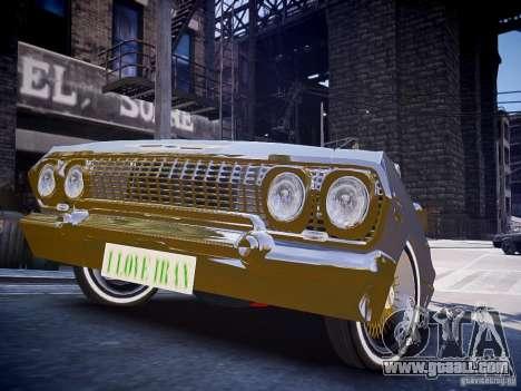 Chevrolet Impala 63 for GTA 4 right view
