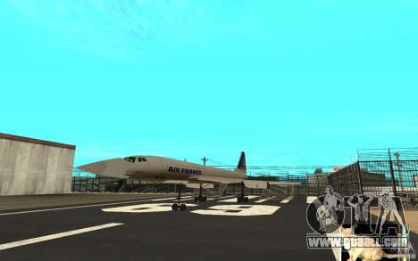 Concorde Air France for GTA San Andreas left view