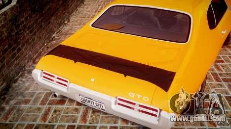 Pontiac GTO Judge for GTA 4 bottom view