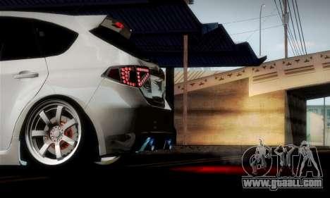 Subaru Impreza WRX Camber for GTA San Andreas interior