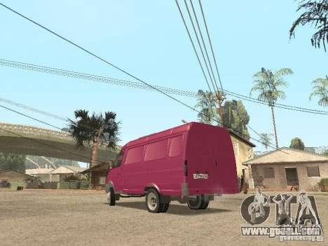 Gazelle 2705 for GTA San Andreas interior