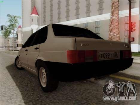 VAZ 21099 Drain for GTA San Andreas left view