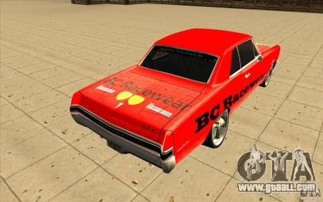 Pontiac GTO 1965 NFS Pro Street with new vinyls for GTA San Andreas inner view