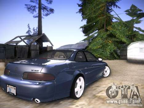Lexus SC300 - Stock for GTA San Andreas back left view