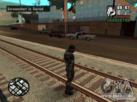 Crysis Nano Suit for GTA San Andreas forth screenshot