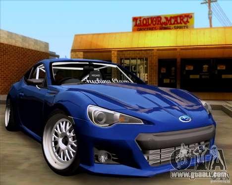 Subaru BRZ Stance for GTA San Andreas