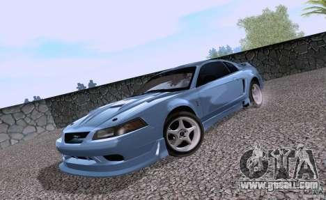 Ford Mustang SVT Cobra 2003 White wheels for GTA San Andreas