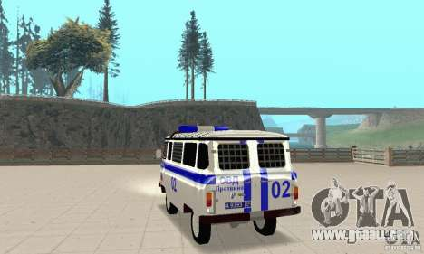 UAZ Police for GTA San Andreas back left view