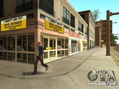 New textures downtown Los Santos for GTA San Andreas seventh screenshot