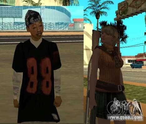 Pak characters from Resident Evil for GTA San Andreas sixth screenshot