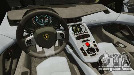 Lamborghini Aventador LP700-4 2012 v2.0 EPM for GTA 4 inner view