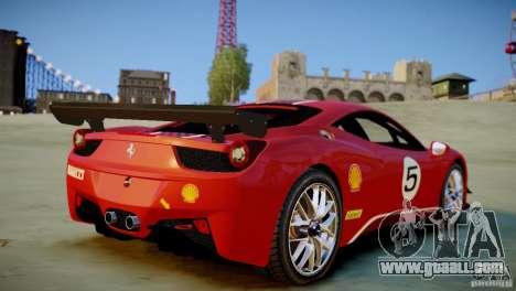 Ferrari 458 Challenge 2011 for GTA 4 back left view