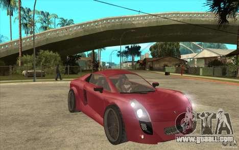 Mastretta MXT for GTA San Andreas back view