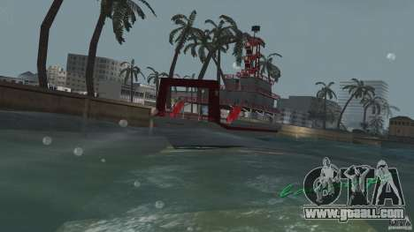 Ferry for GTA Vice City back left view