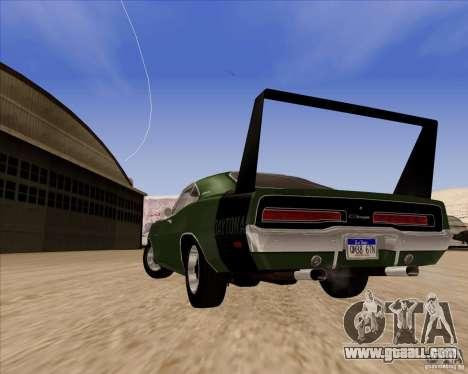 Dodge Charger Daytona 1969 for GTA San Andreas back view