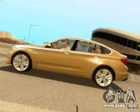 BMW 550i GranTurismo 2009 V1.0 for GTA San Andreas left view