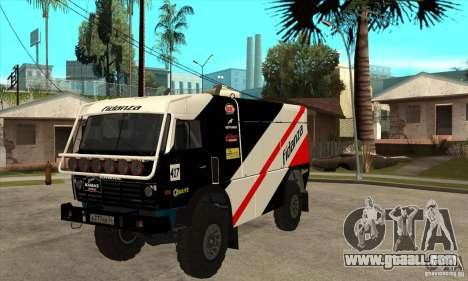 KAMAZ 4911 Rally MASTER for GTA San Andreas left view