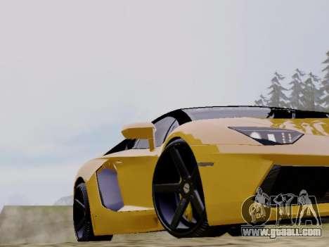 Lamborghini Aventador LP700-4 Vossen for GTA San Andreas back view