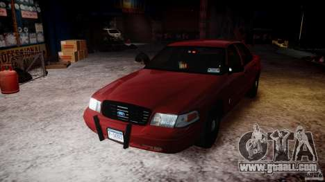 Ford Crown Victoria Detective v4.7 red lights for GTA 4 upper view