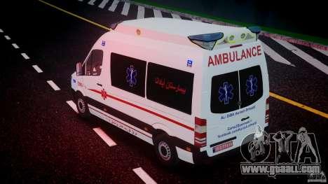 Mercedes-Benz Sprinter Iranian Ambulance [ELS] for GTA 4 engine