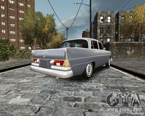 Mercedes-Benz W111 for GTA 4 back left view