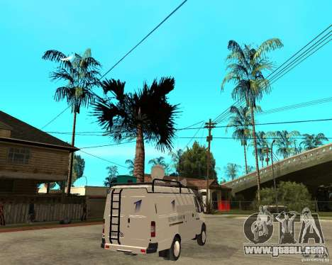 Gazelle 2705 News Channel for GTA San Andreas back left view