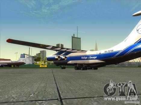 IL 76 m Aeroflot for GTA San Andreas left view