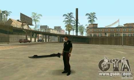 Sword of Nero in Devil May Cry 4 for GTA San Andreas third screenshot