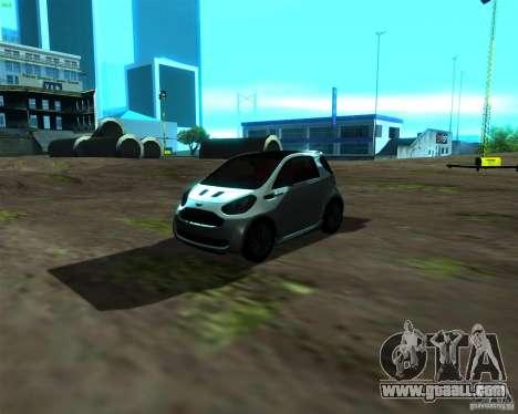 Aston Martin Cygnet for GTA San Andreas left view