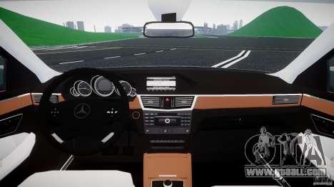 Mercedes-Benz E63 2010 AMG v.1.0 for GTA 4 back view